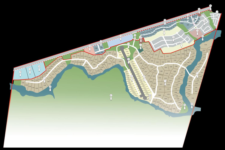 Plattegrond Zandpruit Estate